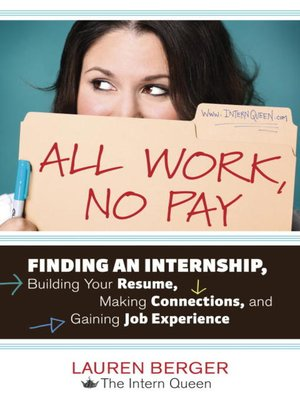 Click this cover for a(n) eBook sample of All Work, No Pay