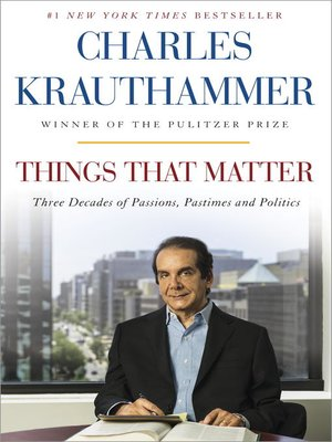 Cover of Things That Matter