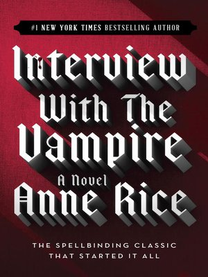 Click this cover for a(n) eBook sample of Interview with the Vampire