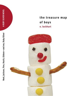 Click this cover for a(n) eBook sample of The Treasure Map of Boys: Noel, Jackson, Finn, Hutch, Gideon—and Me, Ruby Oliver