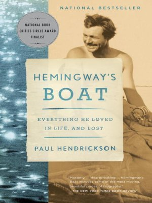 Click this cover for a(n) eBook sample of Hemingway's Boat