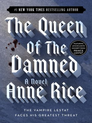 Click this cover for a(n) eBook sample of The Queen of the Damned.