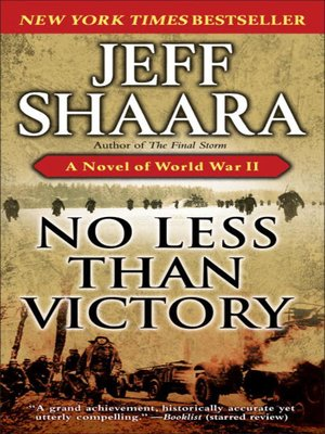 Click this cover for a(n) eBook sample of No Less Than Victory.