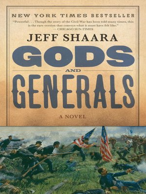 Click this cover for a(n) eBook sample of Gods and Generals.