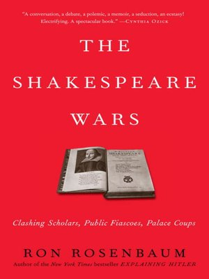 Click this cover for a(n) eBook sample of The Shakespeare Wars.