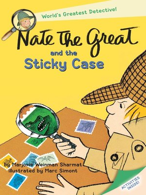 Click this cover for a(n) eBook sample of Nate the Great and the Sticky Case