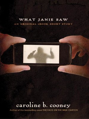 Click this cover for a(n) eBook sample of What Janie Saw.