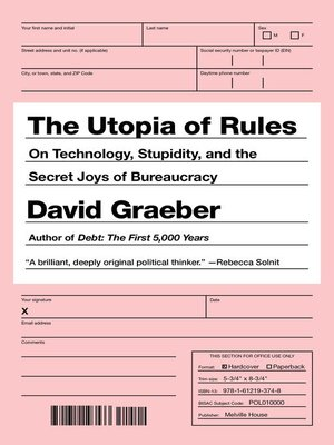 Cover of The Utopia of Rules