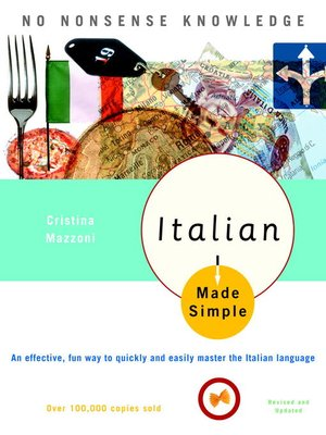 Click this cover for a(n) eBook sample of Italian Made Simple