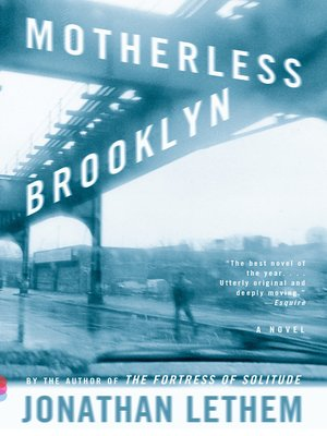 Click this cover for a(n) eBook sample of Motherless Brooklyn.