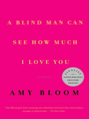 Click this cover for a(n) eBook sample of A Blind Man Can See How Much I Love You