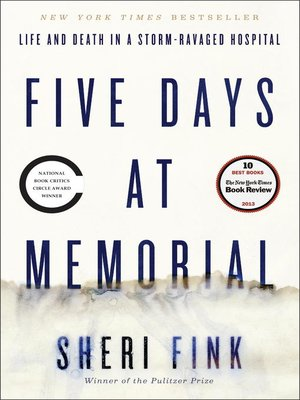 Click this cover for a(n) eBook sample of Five Days at Memorial
