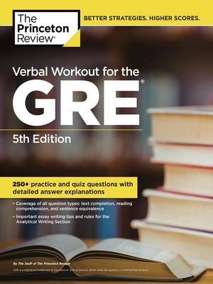 Click this cover for a(n) eBook sample of Verbal Workout for the GRE