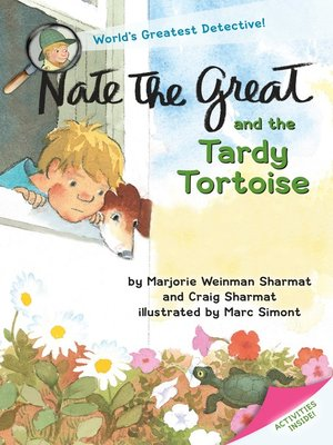 Click this cover for a(n) eBook sample of Nate the Great and the Tardy Tortoise.