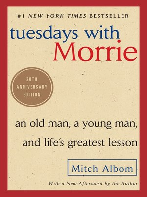 Click this cover for a(n) eBook sample of Tuesdays With Morrie.