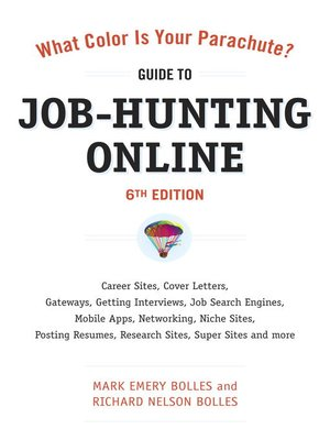 Click this cover for a(n) eBook sample of What Color Is Your Parachute? Guide to Job-Hunting Online.
