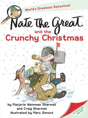 Click this cover for a(n) eBook sample of Nate the Great and the Crunchy Christmas