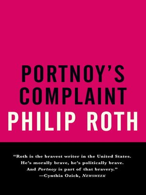 Click this cover for a(n) eBook sample of Portnoy's Complaint