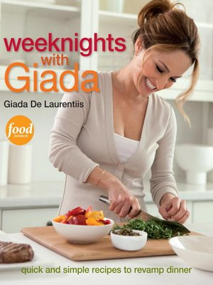 Click this cover for a(n) eBook sample of Weeknights with Giada.