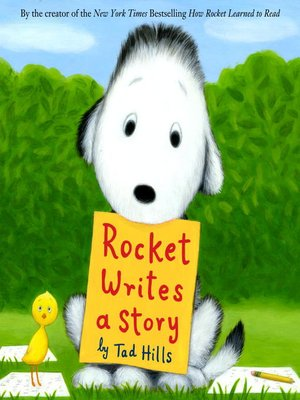 Click this cover for a(n) eBook sample of Rocket Writes a Story.
