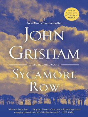 Click this cover for a(n) eBook sample of Sycamore Row.