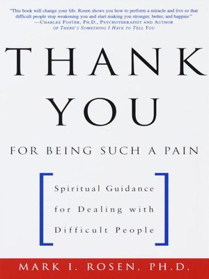 Click this cover for a(n) eBook sample of Thank You for Being Such a Pain