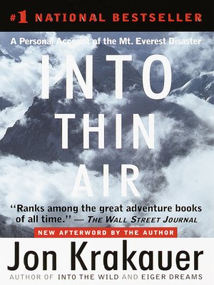 Click this cover for a(n) eBook sample of Into Thin Air.