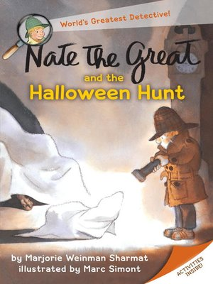 Click this cover for a(n) eBook sample of Nate the Great and the Halloween Hunt