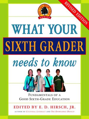 Click this cover for a(n) eBook sample of What Your Sixth Grader Needs to Know
