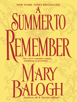Click this cover for a(n) eBook sample of A Summer to Remember.