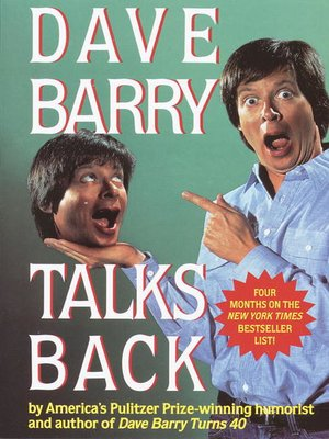 Click this cover for a(n) eBook sample of Dave Barry Talks Back.