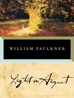 Click this cover for a(n) eBook sample of Light in August
