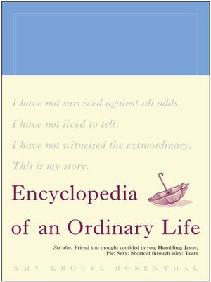 Cover image for Encyclopedia of an Ordinary Life