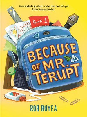 Click this cover for a(n) eBook sample of Because of Mr. Terupt.