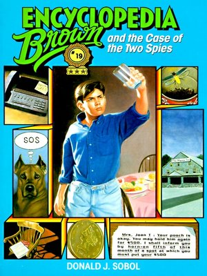 Click this cover for a(n) eBook sample of Encyclopedia Brown and the Case of the Two Spies.