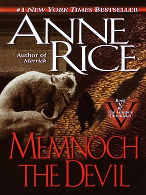 Cover of Memnoch the Devil