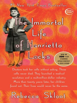 Click this cover for a(n) eBook sample of The Immortal Life of Henrietta Lacks.