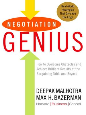 Click this cover for a(n) eBook sample of Negotiation Genius