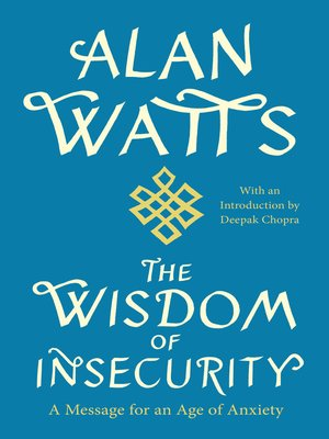 Click this cover for a(n) eBook sample of The Wisdom of Insecurity.