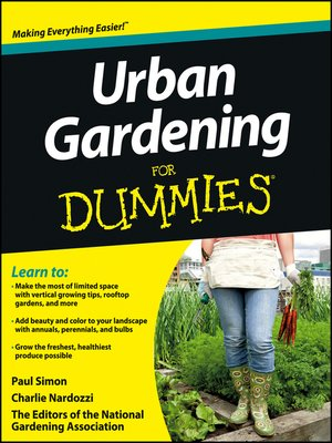 Cover of Urban Gardening For Dummies