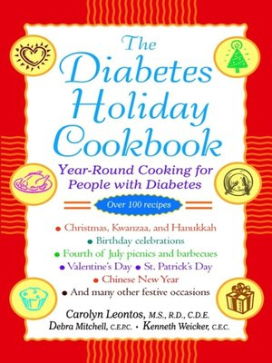 Click this cover for a(n) eBook sample of The Diabetes Holiday Cookbook.