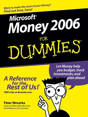Cover of Microsoft Money 2006 For Dummies