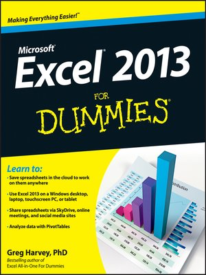 Click this cover for a(n) eBook sample of Excel 2013 For Dummies