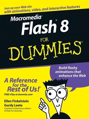Click this cover for a(n) eBook sample of Macromedia Flash 8 For Dummies.
