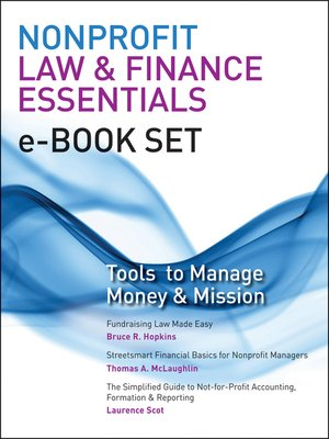 Click this cover for a(n) eBook sample of Nonprofit Law & Finance Essentials e-book set