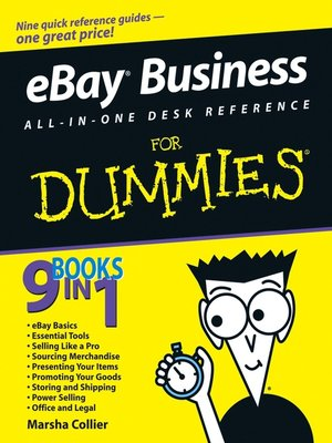 Click this cover for a(n) eBook sample of eBay Business All-in-One Desk Reference For Dummies.
