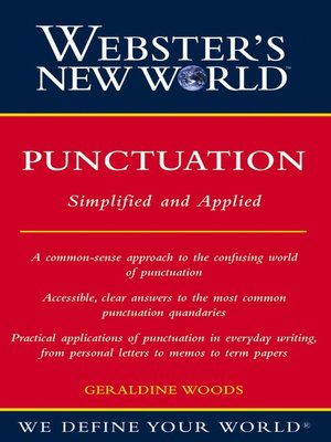 Click this cover for a(n) eBook sample of Webster's New World Punctuation.