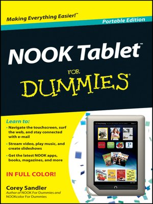 Click this cover for a(n) eBook sample of NOOK Tablet For Dummies.