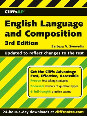 Click this cover for a(n) eBook sample of CliffsAP English Language and Composition.