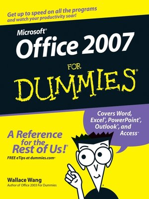 Click this cover for a(n) eBook sample of Office 2007 For Dummies
